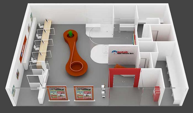 kotak mahindra bank  bank interior design  office interior